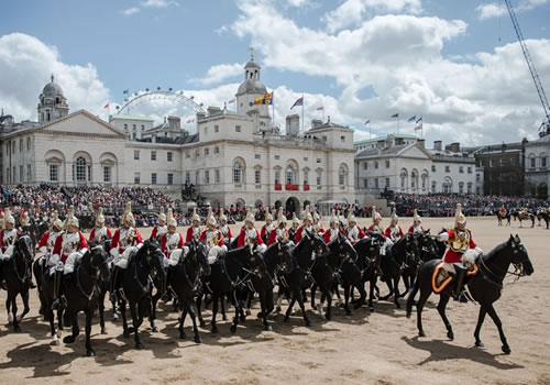 The royal cavalry taking part in the parade