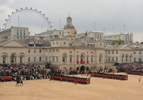 View of the Horse Guard showing the parade in progress